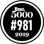 Logo Recognizing Scott Vicnair Law's affiliation with Inc. 5000 #981 2019